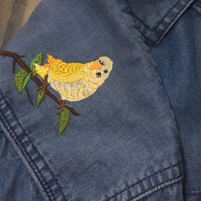 インコ刺繍-01