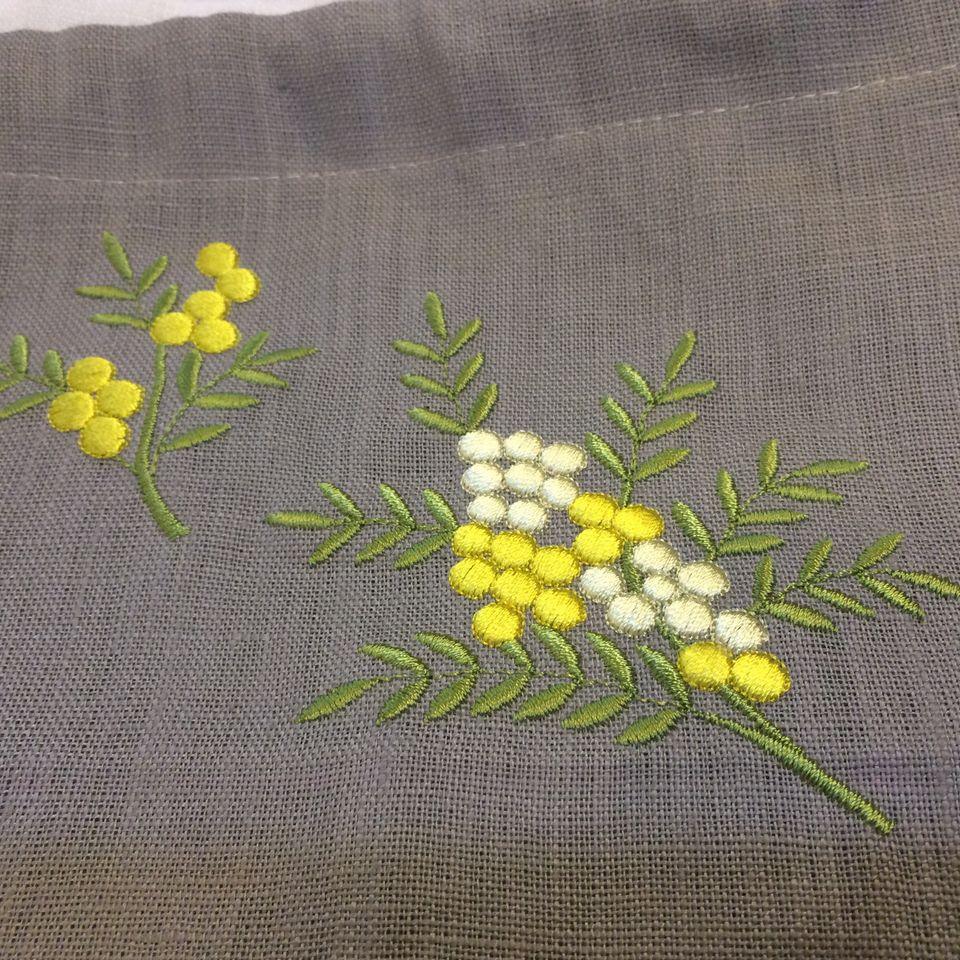 オーダーメイド刺繍/ミモザ