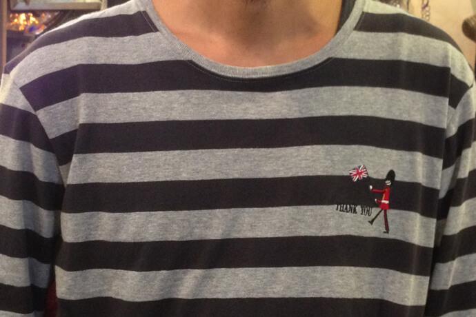 刺繍屋さんで作ったオリジナルの刺繍入りTシャツ