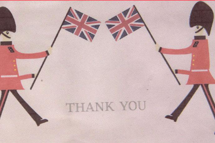 イギリスの衛兵のイラスト