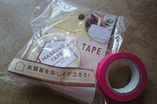 100円ショップのマスキングテープのサンプル