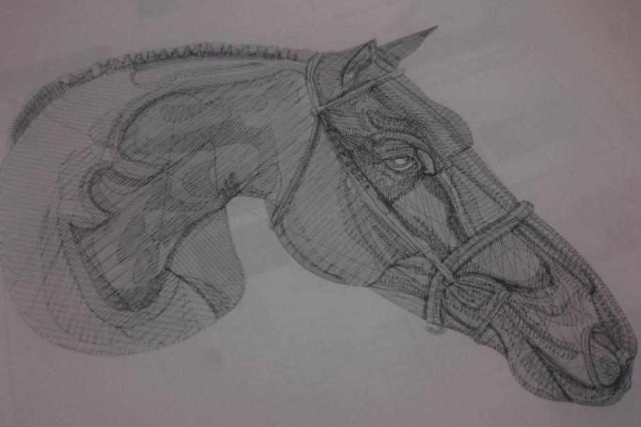 馬のオーダーメイド刺繍