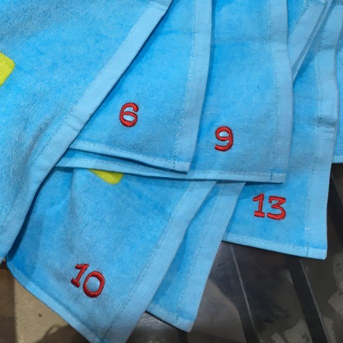 持ち込みタオルへ背番号刺繍のオーダー-01