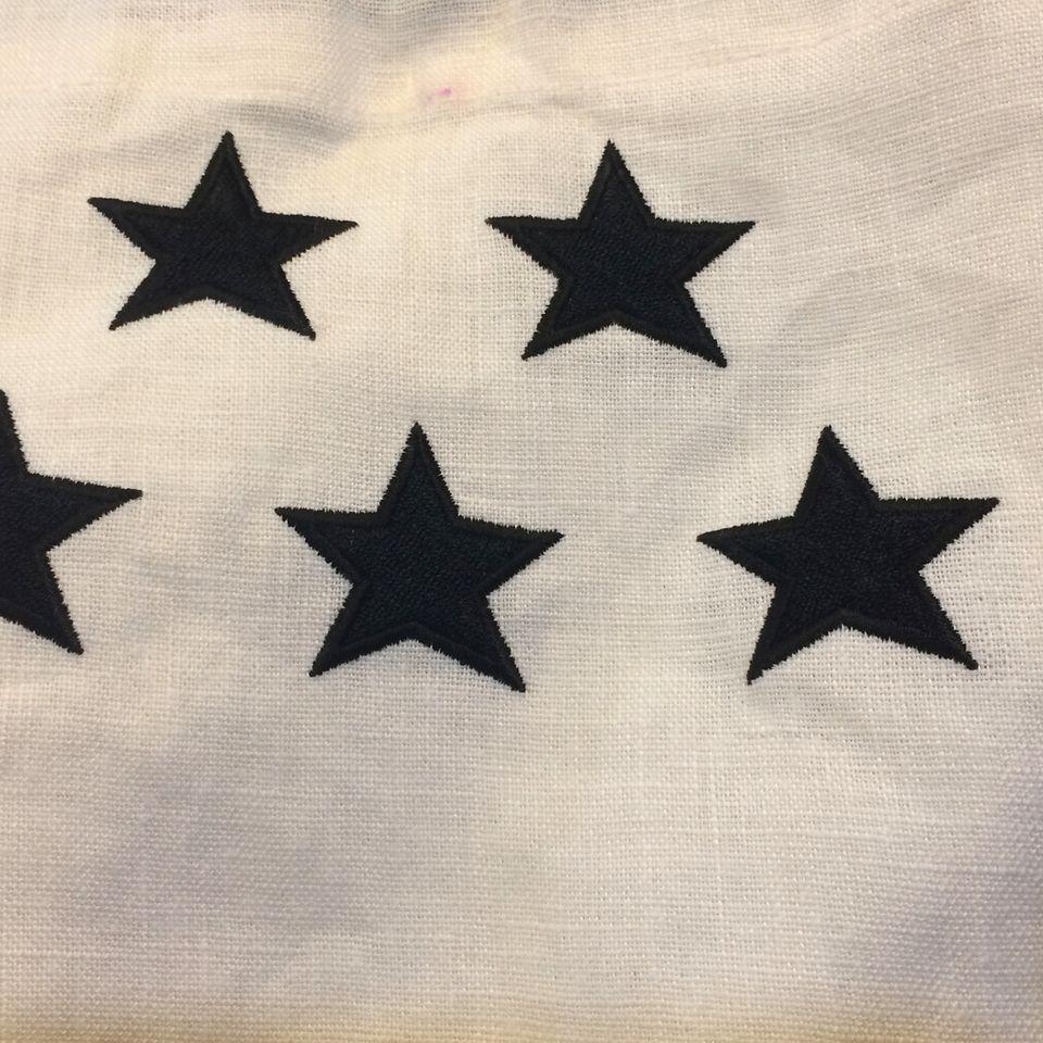 オーダーメイド刺繍/星5個