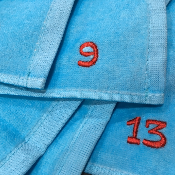 持ち込みタオルへ背番号刺繍のオーダー-03
