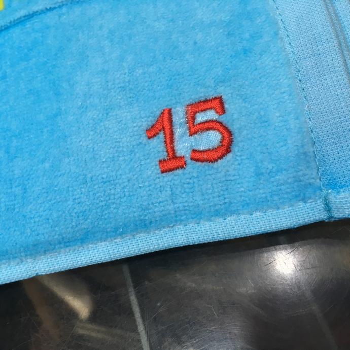 持ち込みタオルへ背番号刺繍のオーダー-04