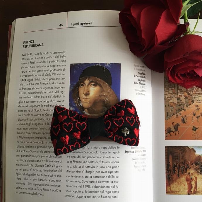 刺繍の蝶ネクタイ/トランプカードイメージ