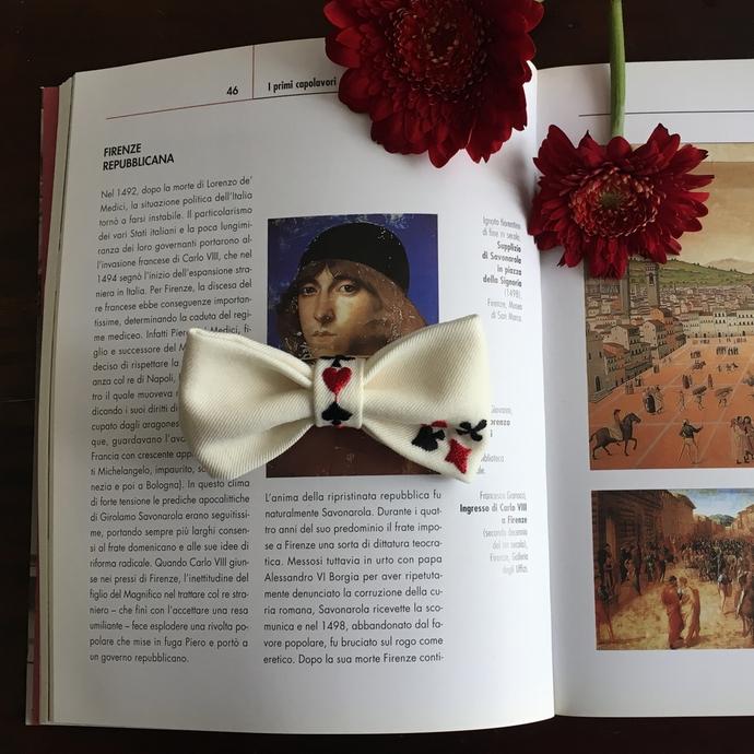 刺繍蝶ネクタイ/トランプカードイメージ