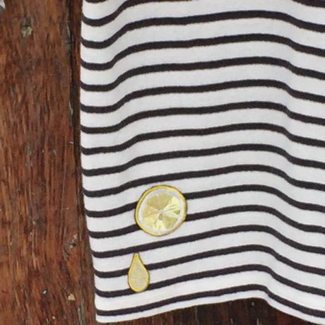 タンクトップ/レモン裾