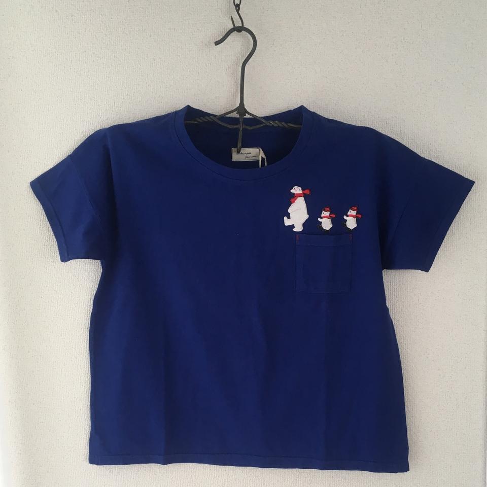 [ワニの行進]刺繍Tシャツハンガー全体