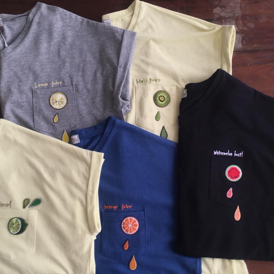 フルーツTシャツ2017全フルーツ並びイメージ