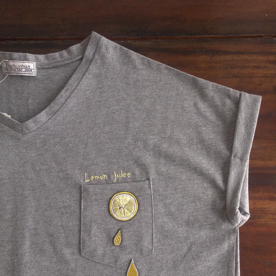 フルーツTシャツ2017レモン襟ぐり