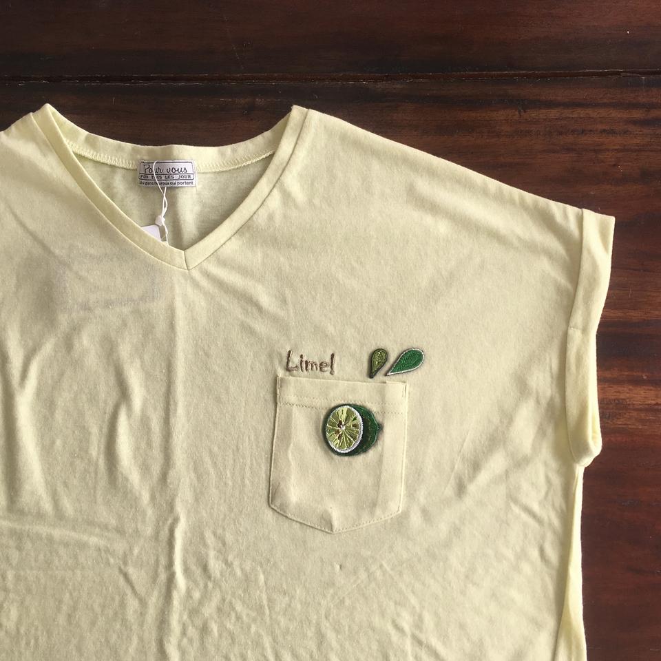 フルーツTシャツ2017ライム袖アップ
