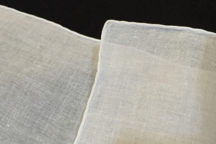 Buranoハンドワーク刺繡ハンカチーフ:サイド