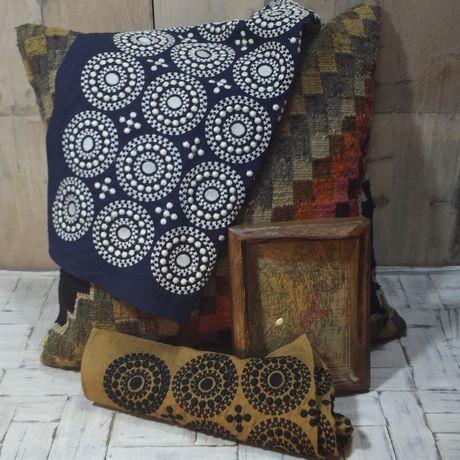 サークル刺繡ハンカチーフINDIAx460