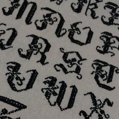 黒糸色クロスステッチ刺繡見本