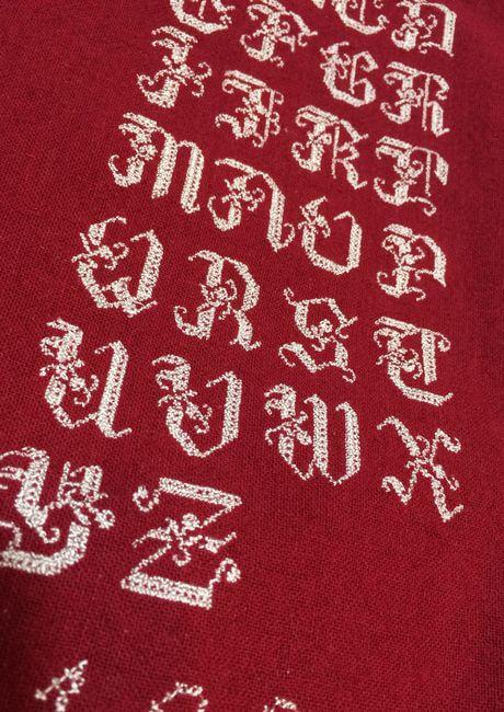 リネンハンカチ:白糸イニシャル刺繡見本