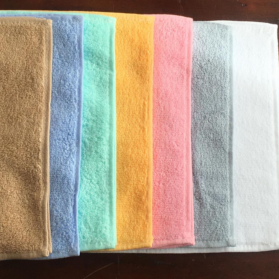 タオルハンカチ抗菌消臭加工/7色並べアップ2