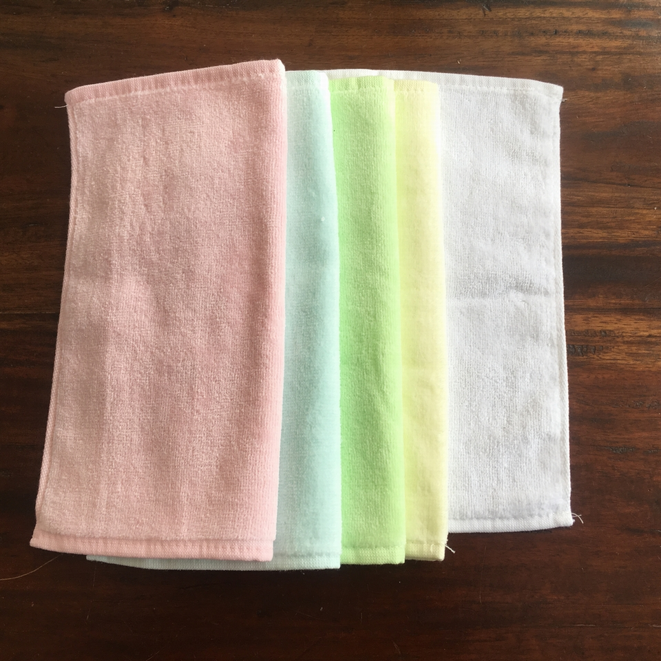 シェニールタオルハンカチ刺繍カラー展開