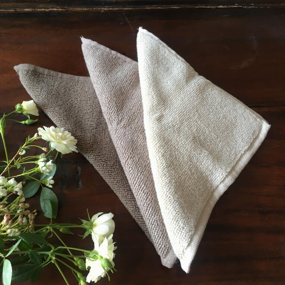 無撚糸タオルハンカチ刺繍3角のイメージ