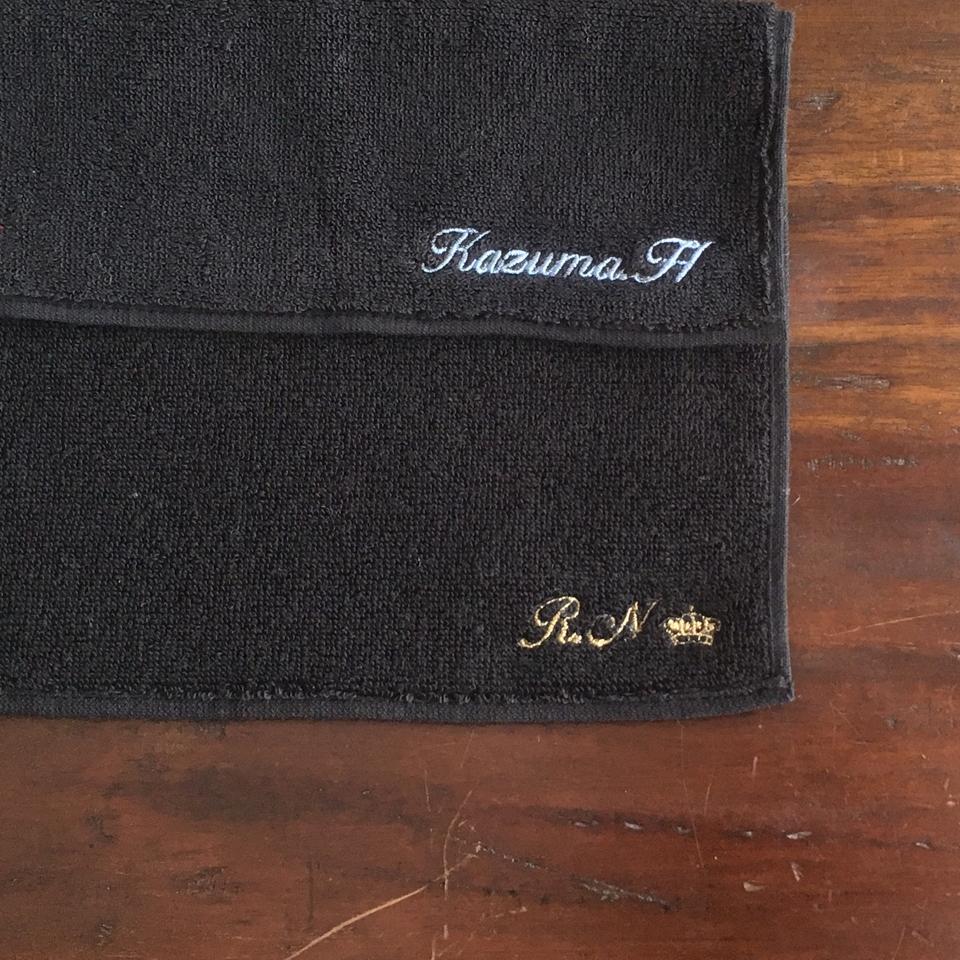 今治タオルハンカチ[男メンズ]刺繍位置B