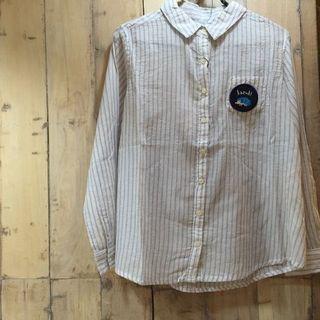 刺繍ステッカーの使用例。貼り付けたシャツ