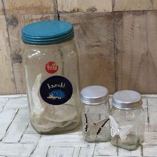 刺繍ステッカーの使用例:ガラスの瓶
