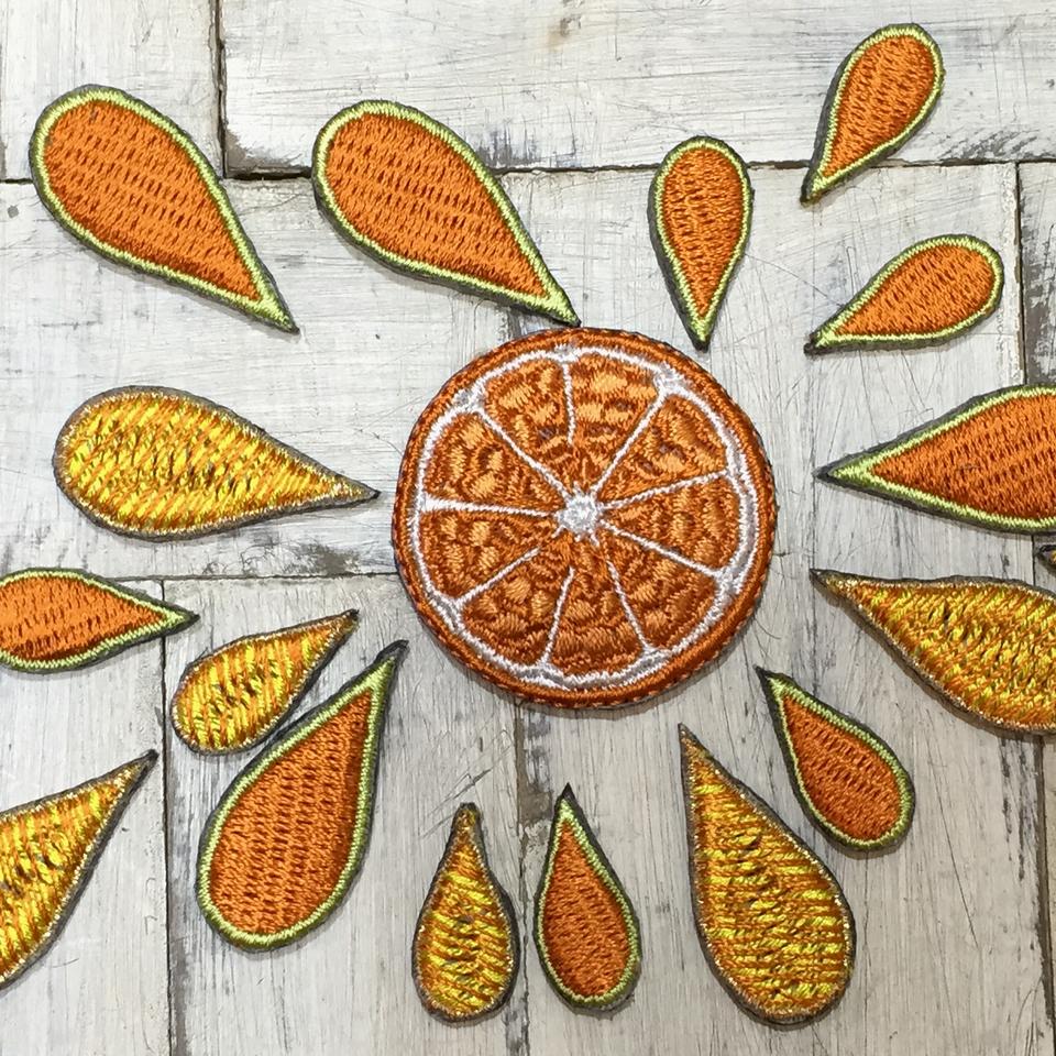 フルーツワッペン オレンジ/フレッシュ