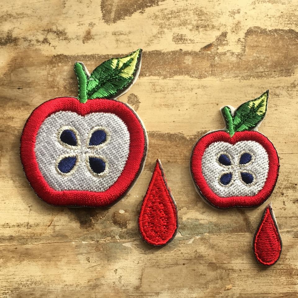 フルーツワッペン リンゴ/しずくML