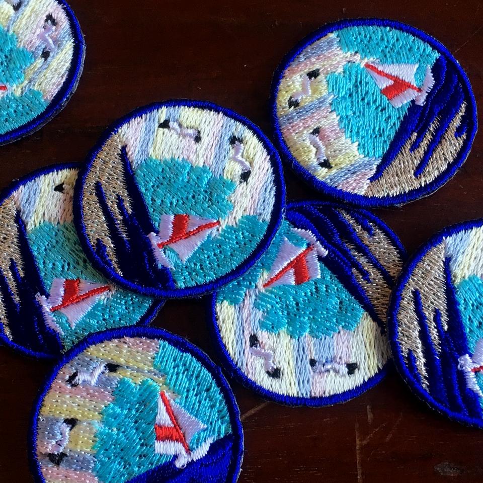 マリン刺繍ワッペン/ヨット:バラバラ