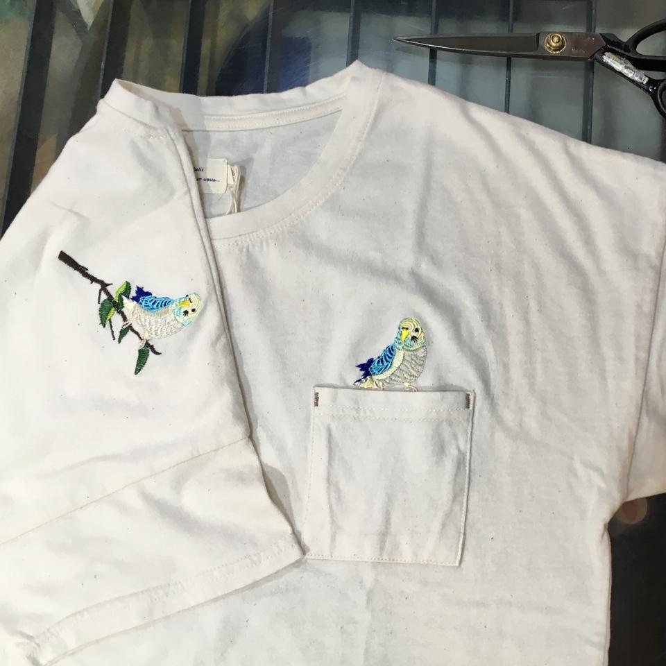 オーダー鳥Tシャツ刺繍-02