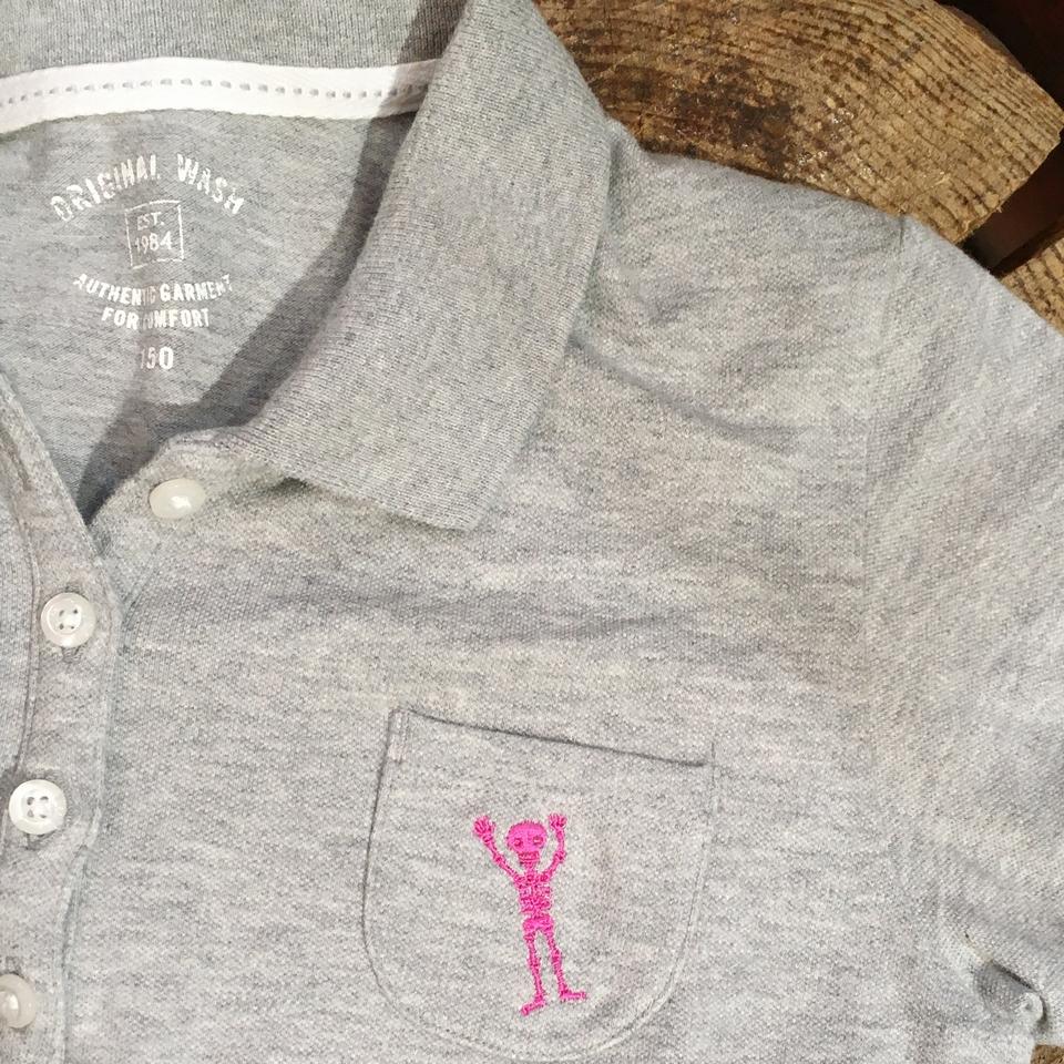 バンザイドクロ刺繍:ポロシャツ刺繍製作2