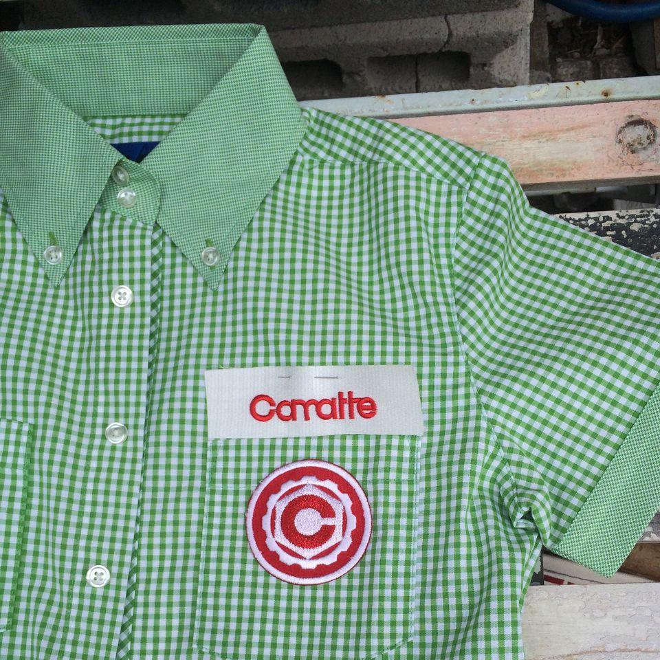 オーダーメイド刺繍/シャツへネームとワッペン