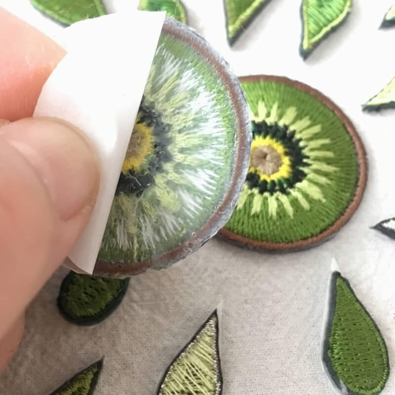 刺繍ワッペン/キウイ背面加工