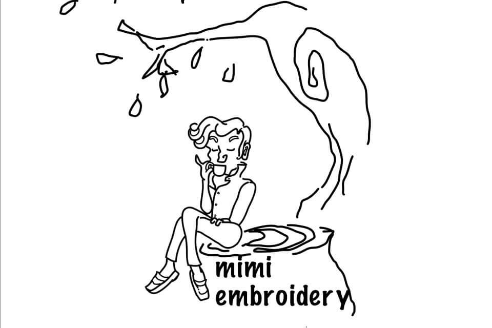 mimi刺繍のミミッチーノのイラスト