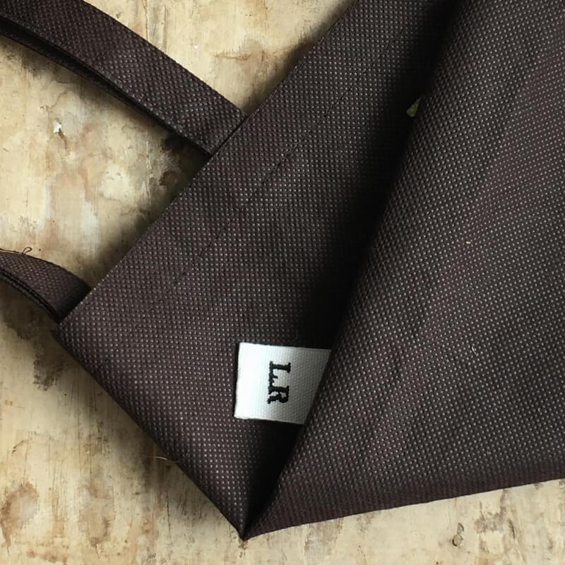 リボン:刺繍ネームタグini不織布バック