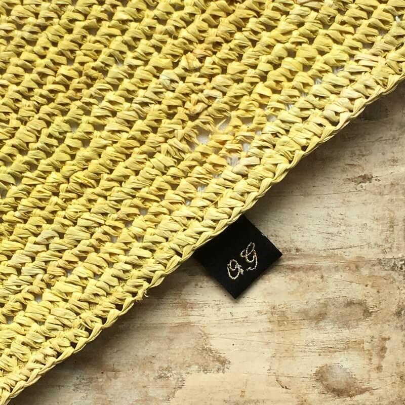 リボン:刺繍ネームタグiniバック