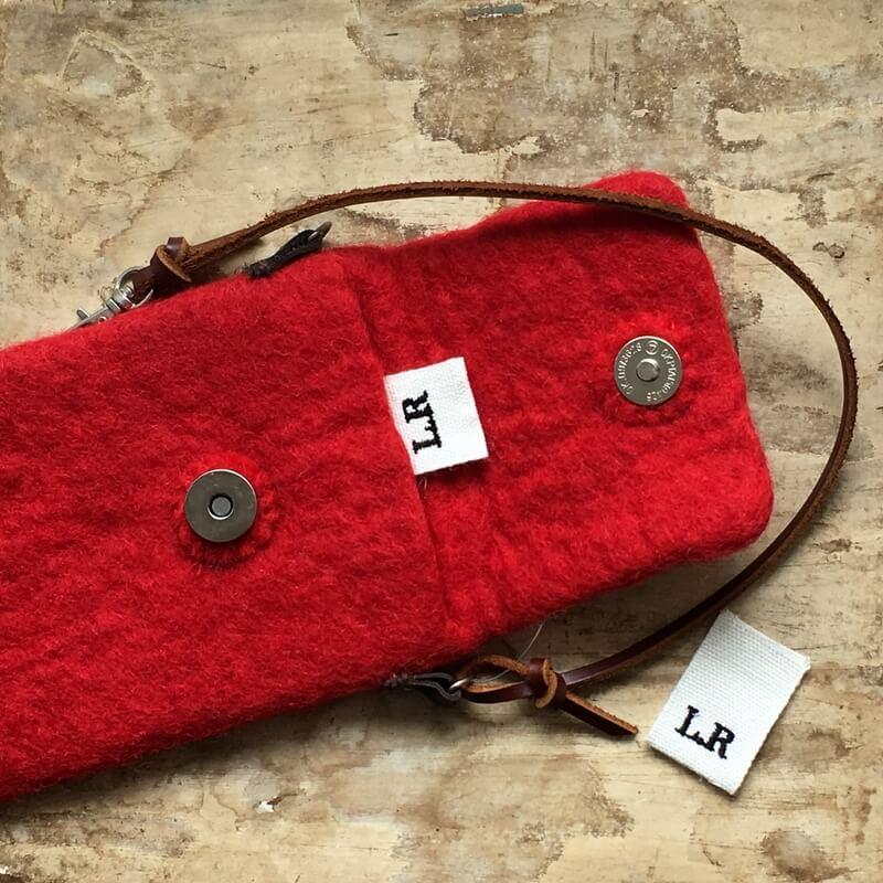 リボン:刺繍ネームタグiniポーチ横置き