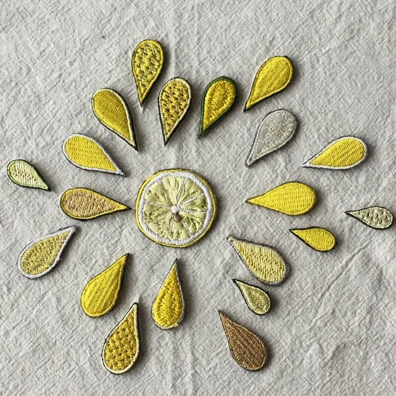 刺繍ワッペン/レモンスカッシュ