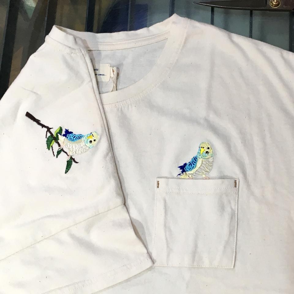 オーダー鳥Tシャツ刺繍-03