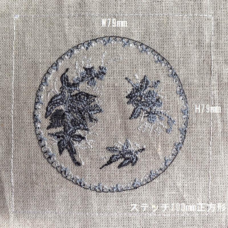 プレートベリー刺繍サイズ