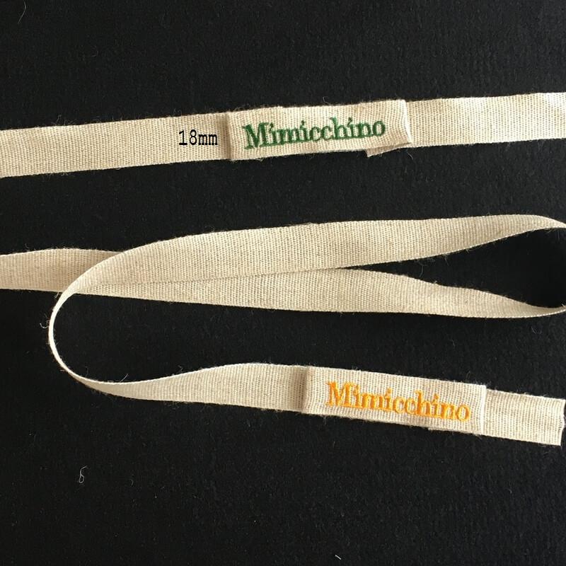 リネン麻:刺繍ネームabcサイズ文字入り