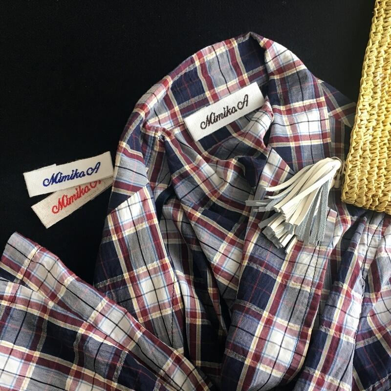 麻混:刺繍ネームタグabcジャケット