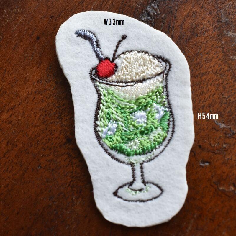 クリームソーダ刺繍サイズ