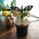 レモン刺繍イヤリング&ピアス