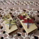 トンボ[Dragonfly]北欧風刺繍ブローチ