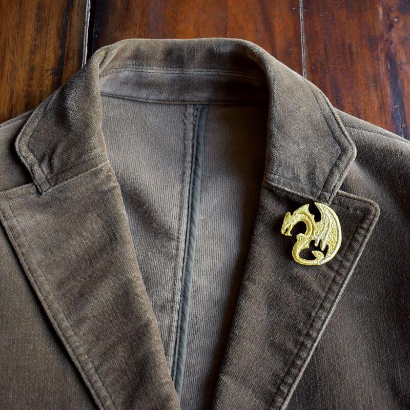 ドラゴン刺繍ブローチジャケット