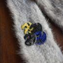 Dragon[ドラゴン]龍の刺繍ブローチ