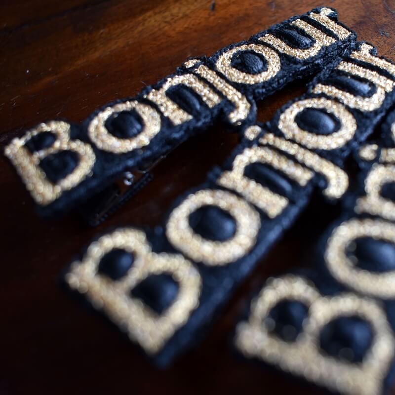 ボンジュール[Bonjour]刺繍クリップアップ