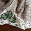 サボテンサンゴ刺繍ピンレース3個